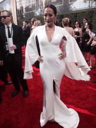 """Here's Carrie Ann Inaba rockin' it at The #Emmys."" - Primetime Emmy Awards - September 20, 2015 Courtesy: ABC7George Twitter"